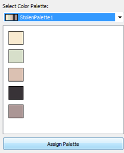 assigning a palette