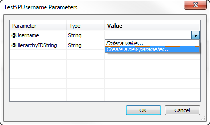 Passing usernames and multiple values to a Stored Procedure using