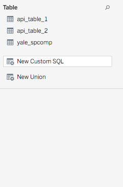 Custom SQL in Tableau